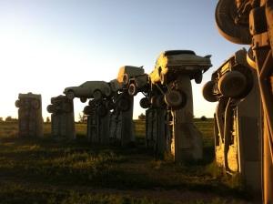 carhenge at sunset
